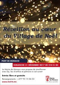 Locandina del Capodanno al Villaggio di Natale di Monaco
