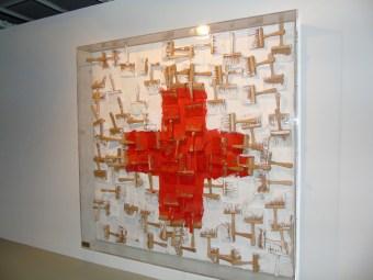 Un'opera esposta nella mostra per i 70 anni della Croce Rossa Monegasca