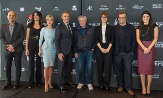 Monte Carlo Film Festival della Commedia 2018, nella foto: Ezio Greggio con Milani, Cucinotta, Brilli, Lelouche, Cortellesi Muccino, Solarino, Ft.Webstudio06
