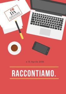 """Locandina di """"Raccontiamo"""" primo corso scrittura creativa a Monte Carlo"""