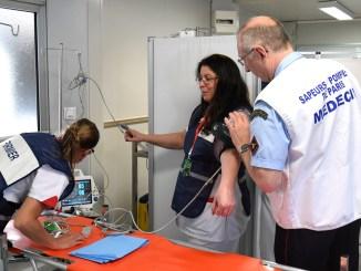Anche i Vigili del Fuoco di Parigi nel Posto Medico Avanzato ai Margini del GP di Monaco