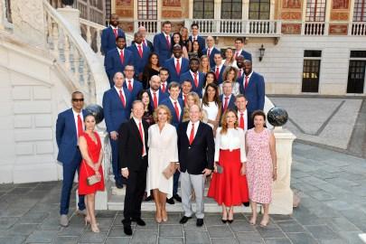 l'A.S. Monaco Basket ricevuta dal Principe Alberto II Ft©Dir. Comm. Charly Gallo