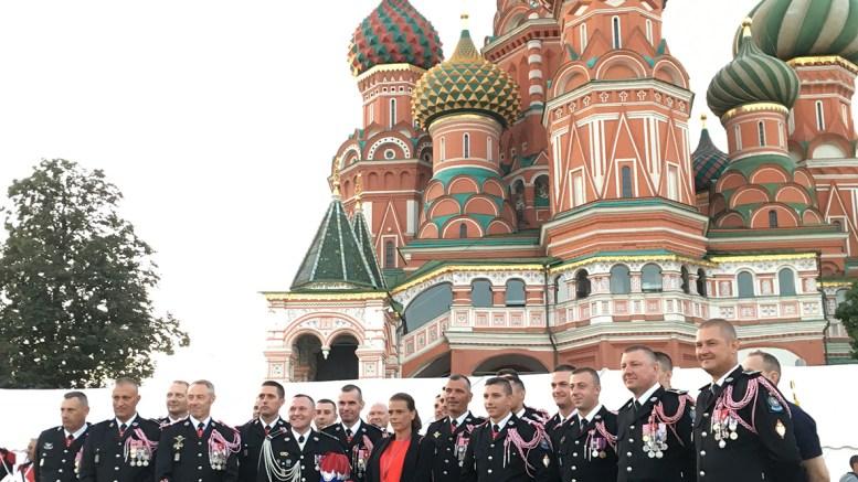 Stéphanie di Monaco a Mosca con l'Orchestra dei Carabinieri di S.A.S il Principe Sovrano