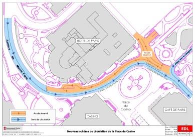 Al Via la Pedonalizzazione Sperimentale Davanti al Casinò di Monte Carlo (la mappa delle modifiche)
