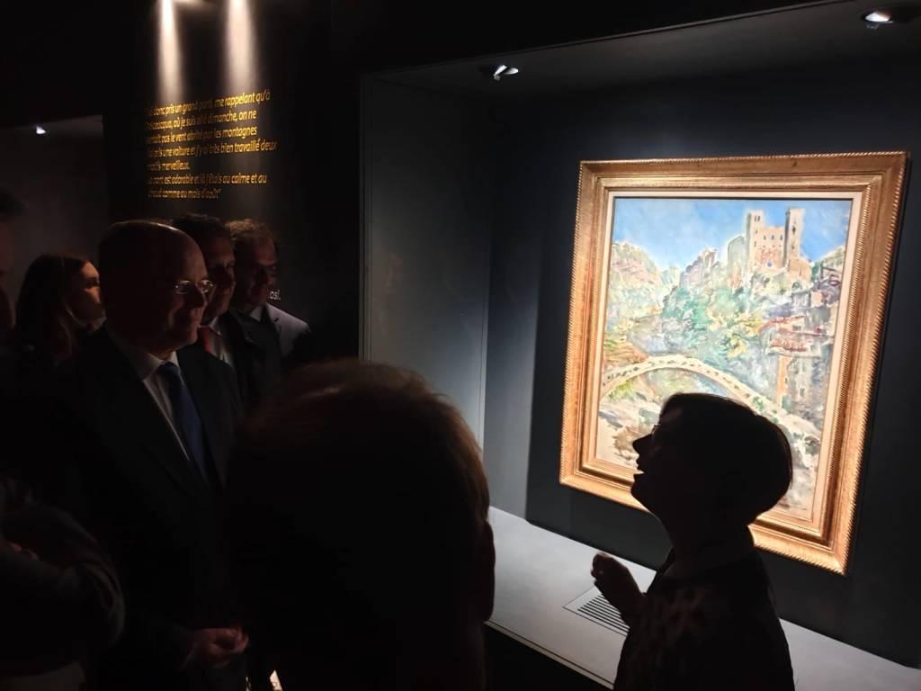 Il Principe Alberto all'inaugurazione della mostra Monet in Riviera Ft. Sistema Museo