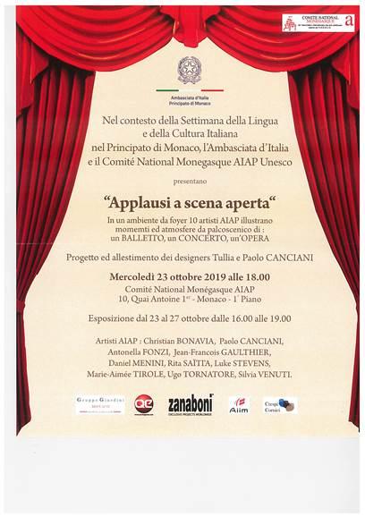 Monaco: il Design Italiano e l'Arte AIAP Protagonisti di Applausi a Scena Aperta