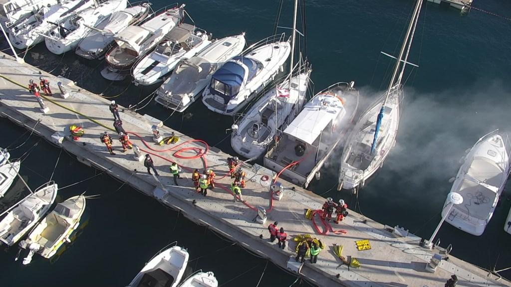 Esercitazione di Simulazione di Incendio nel Porto di Monaco