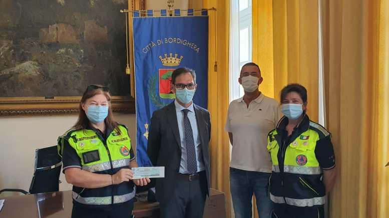 Bordighera: alla Protezione Civile il Fondo Mensile di Solidarietà della Giunta