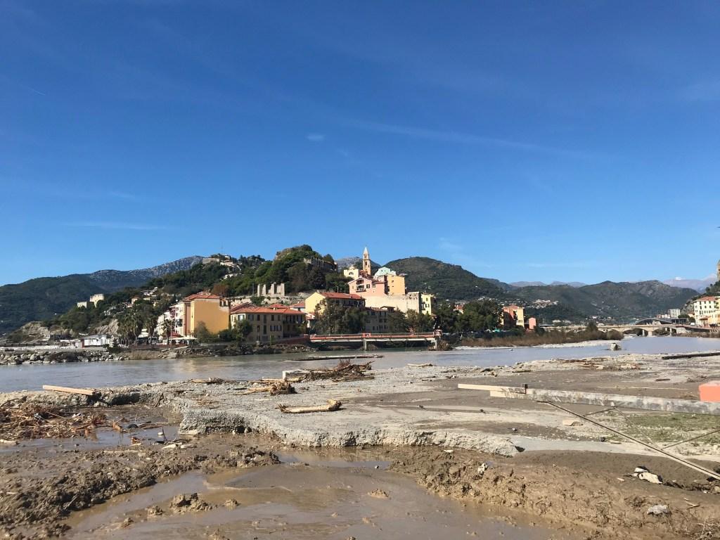 Per le Strade di Ventimiglia Dopo la Tempesta AlexAlex Fango Città Vecchia; Ft©arvalens