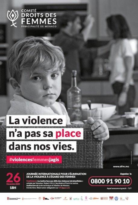 Principato di Monaco: Campagna per la Giornata Internazionale 2020 Contro la Violenza sulle Donne