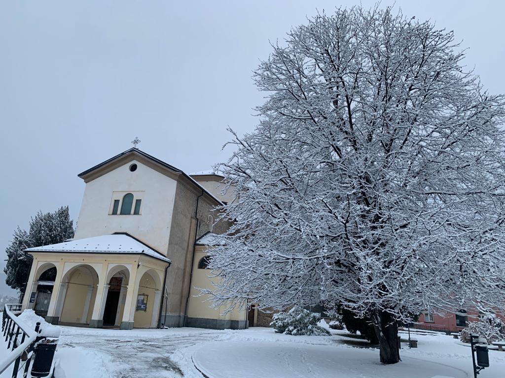Neve  a Cuneo 28 Dicembre 2020