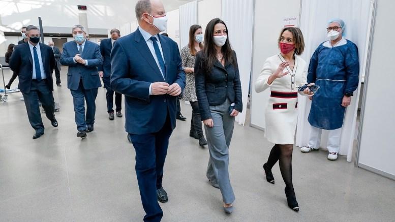 Centro di Vaccinazione Covid-19 Inaugurato dal Principe Alberto al Grimaldi Forum
