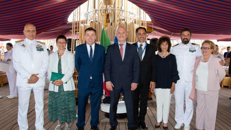 Con l'Amerigo Vespucci a Monaco Protagoniste la Tutela dell'Ambiente e le Onorificenze ad Alti Esponenti Monegaschi