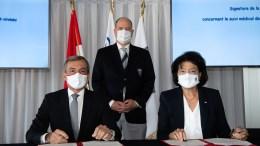 Firma di una Convenzione tra il Governo e il Comitato Olimpico Monegasco alla Presenza del Principe Alberto