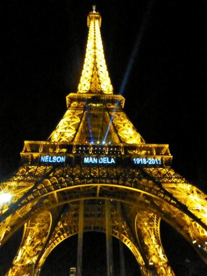 Eiffel Tower Honoring Nelson Mandela