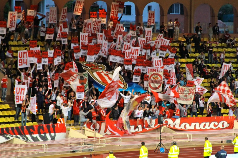 The loyal Monaco fans supporting their team