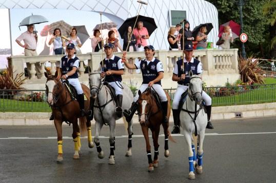 Maserati team at the parade in the Casino Square @CelinaLafuenteDeLavotha