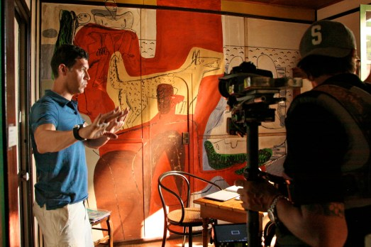 Marco Orsini filming his documentary @CelinaLafuenteDeLavotha