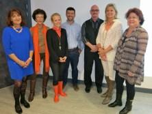 Christine Lorenzini, Catherine Clerget, Vibeke Thomsen, Olivier Cocchi, Gordon Baudin, Hilde Heye and Mme Lanteri