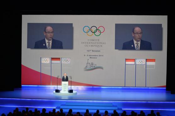 HSH Prince Albert on his opening presentation of the 127th session of the IOC in Monaco