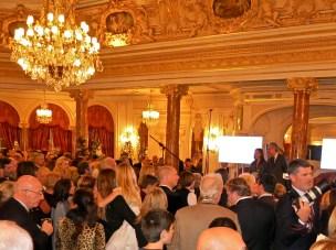 The Salle Belle Epoque packed with generous bidders
