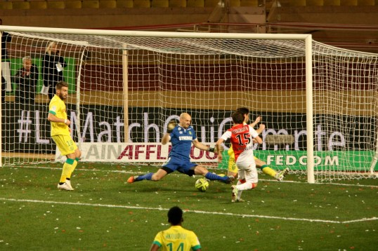 Silva's goal at the 73 min that sealed Monaco's victory against Nantes @CelinaLafuenteDeLavotha