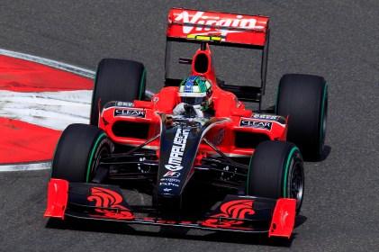 Lucas di Grassi racing for Virgin F1 team in 2010