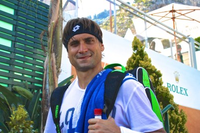 Spanish David Ferrer coming out of the practice court gave me a charming smile @CelinaLafuenteDeLavotha