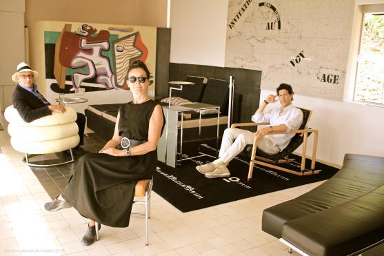 Michel Likierman, Mary McGuckian, Marco Orsini at E1027 11-05-15 (1) Copyright Celina Lafuente-de-Lavotha