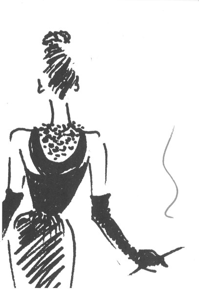 Sketch by Hubert de Givenchy