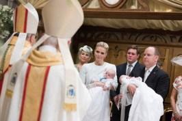Princess Charlene holding Prince Jacques and Prince Albert with Princess Gabriella, May 10, 2015 @Michel Danino-4