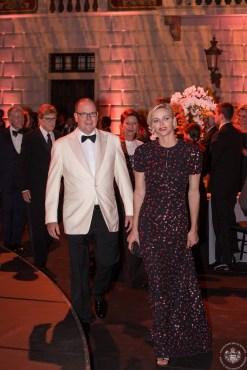 Prince Albert and Princess Charlene arriving to the dinner @Eric Mathon_1350