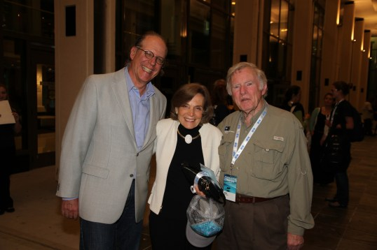 Jeff Menin, Sylvia Earle, Don Walsh during BLUE 2014 @BLUE photo ArchivesJPG