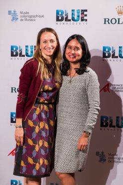 Celine Cousteau and Anisa Costa from Tiffany & Co Foundation @Philippe Fitte BLUE2015Monaco
