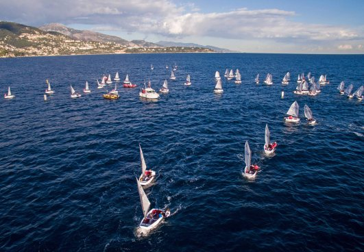 View from the air of the Optimist Team Race @McClic