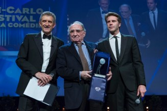 Claude Brasseur wins the career award of the 13th MCFFC. Grimaldi Forum in Monaco, March 6th, 2016. @ Marco Piovanotto