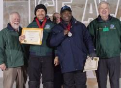 Dick Brickley (Chair PB WICC), Vitaliy Lednev (Russia), Mario Amegee (Monaco) and Hank Bartos (Ice Alaska Board of Directors, President) BP WIAC