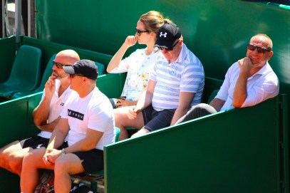 Kim Sears (Andy Murray's wife), Ugo Colombini and others in Andy's camp @CelinaLafuenteDeLavotha