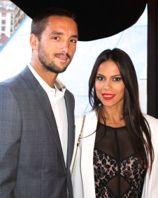 Viktor Troicki and his girlfriend at Zelo's launch party MCRM 2016 @CelinaLafuenteDeLavotha