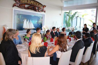 Dinner at YCM in honor of Rigoberta Menchu @CelinaLafuenteDeLavotha