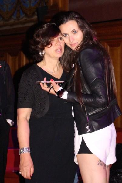 Iuliana Mihai with her PR Manager Maria Christina Rigano (Left) @CelinaLafuenteDeLavotha