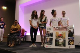 Monaco Students presenting their peace project @Christine Wu