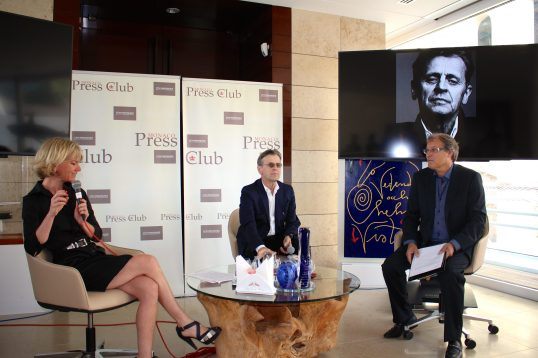 Mikhail Baryshnikov meets the Press on June 28, 2016 a the YCM @CelinaLafuenteDeLavotha