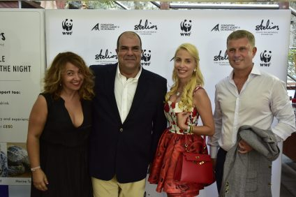 Sir Stelios with guests at his charity auction @SPF