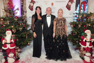 S.E M. Cristiano Gallo, Ambassador of Italy in Monaco and his wife with Marquise Roberta Gilardi-Sestito ©Laurent Ciavaldini