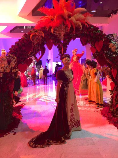 Celina Lafuente de Lavotha in a Josephine Bonaparte style costume at the Grand Masked Ball of Venice in Monte-Carlo 2017
