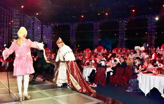 The Doge of Venice being greeted by Casanova at the Grand Masked Ball of Venice in Monte-Carlo 2017 @Iulian Giurca