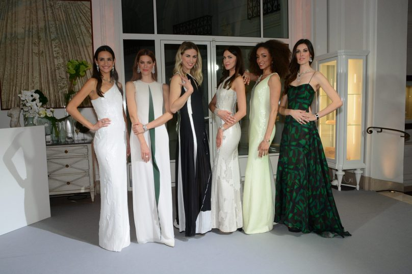 All the models in Akris dresses and Piaget Jewellery copyright ©cotemagazine.com