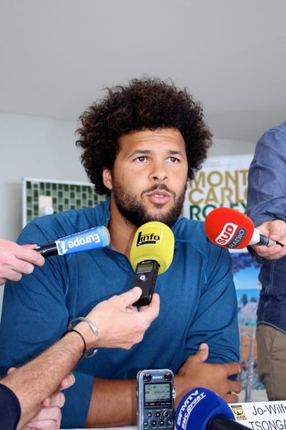 Jo-Wilfred Tsonga meeting the press at the MCRM2017 @CelinaLafuenteDeLavotha