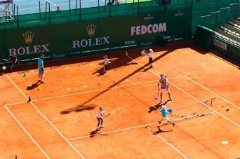 Little children practising tennis @CelinaLafuentedeLavotha